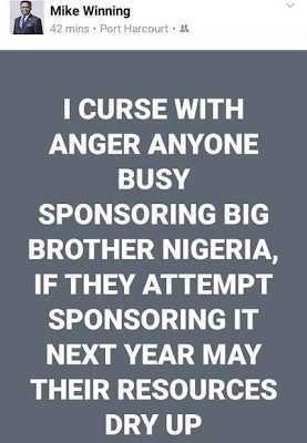 Pastor Lays Curse on Big Brother Naija Organizers